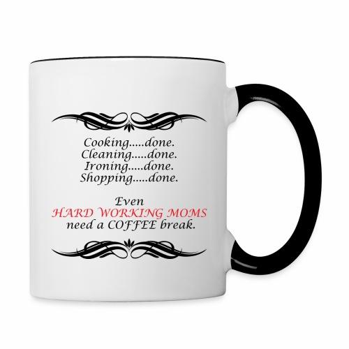 Hard working mom - Contrast Coffee Mug