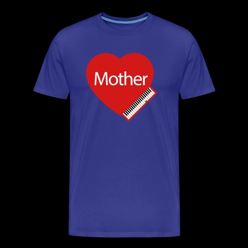 Mother's Day Heart & Piano - Men's Premium T-Shirt
