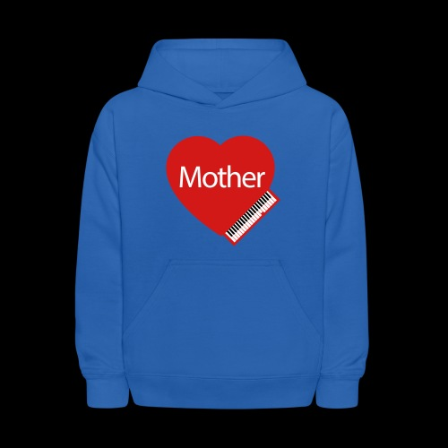 Mother's Day Heart & Piano - Kids' Hoodie