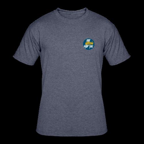 Men's MayNothingStopYou tee (blue/yellow) - Men's 50/50 T-Shirt