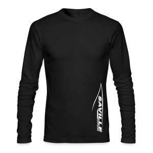 Long Sleeve T Side Logo - Men's Long Sleeve T-Shirt by Next Level
