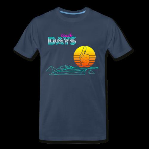 1980s Track Days - Men's Premium T-Shirt