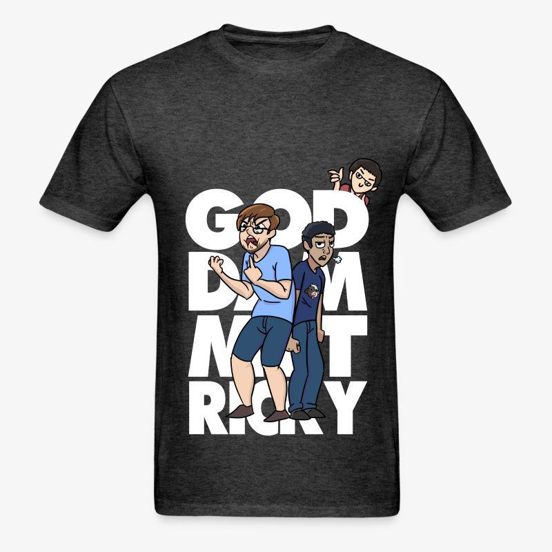 God Dammit Ricky Shirt - White - Men's T-Shirt