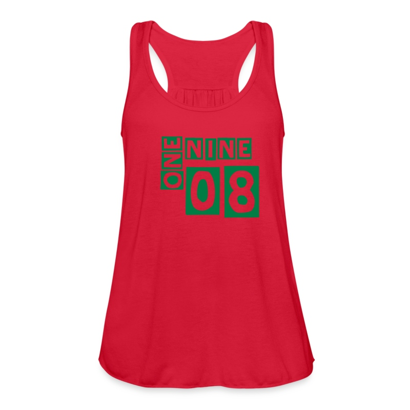 1908 Alpha Kappa Alpha - green lettering - Women's Flowy Tank Top by Bella