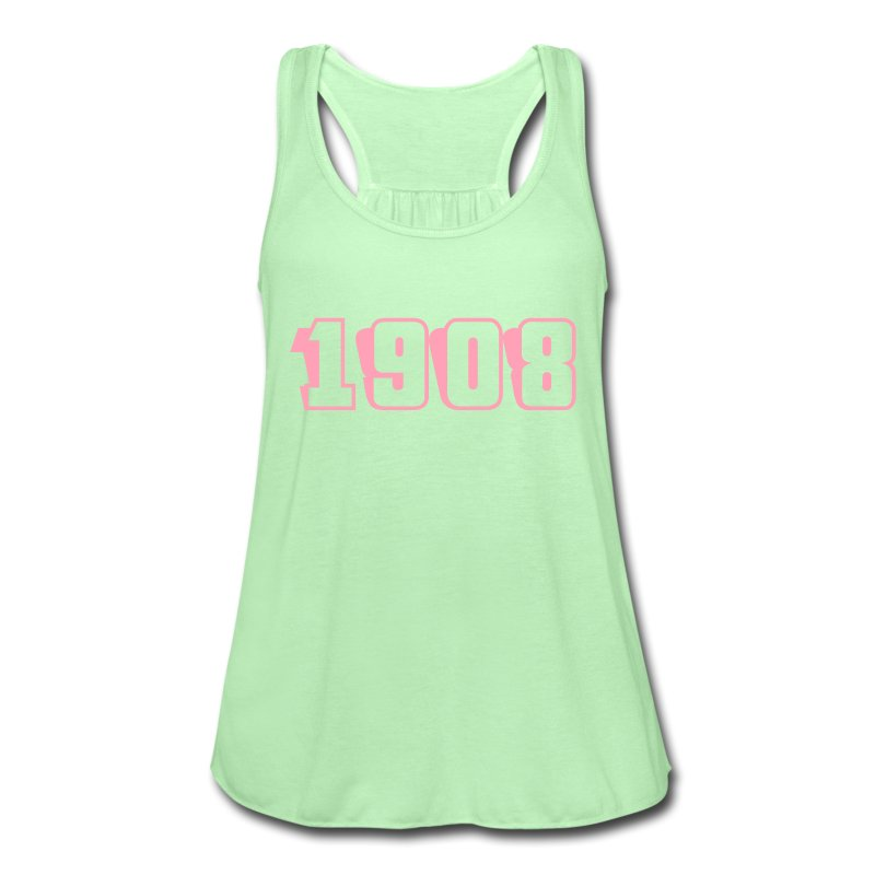 1908 tank (pink text) - Women's Flowy Tank Top by Bella