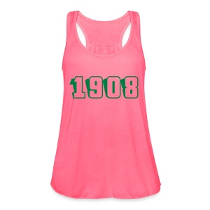 1908 tank (green text) - Women's Flowy Tank Top by Bella