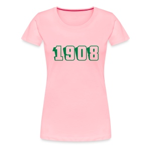 1908 fitted tee (green text) - Women's Premium T-Shirt
