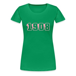 1908 fitted tee (pink text) - Women's Premium T-Shirt