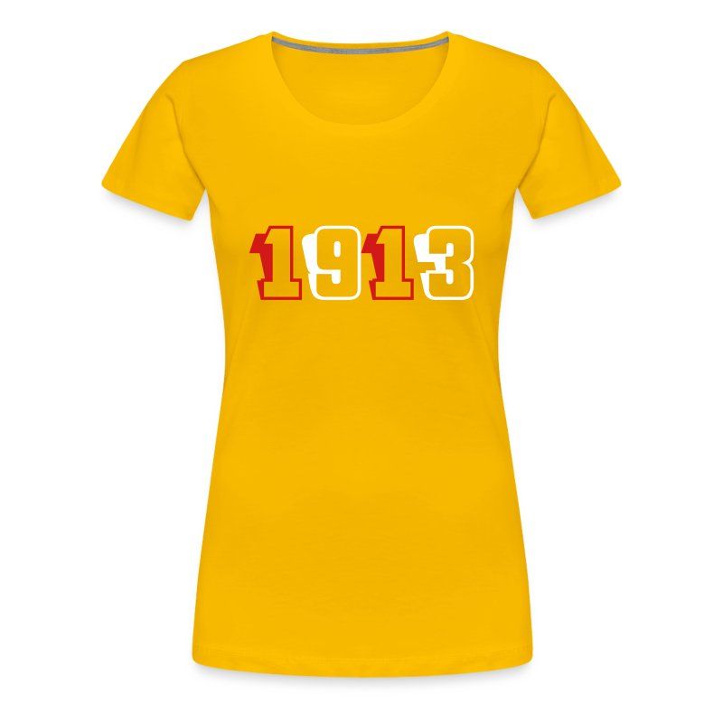 1913 fitted tee (red and white text) - Women's Premium T-Shirt