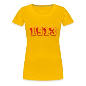 1913 fitted tee (red text) - Women's Premium T-Shirt