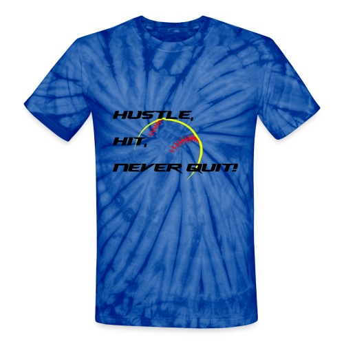 Softball Never Quit - Unisex Tie Dye T-Shirt