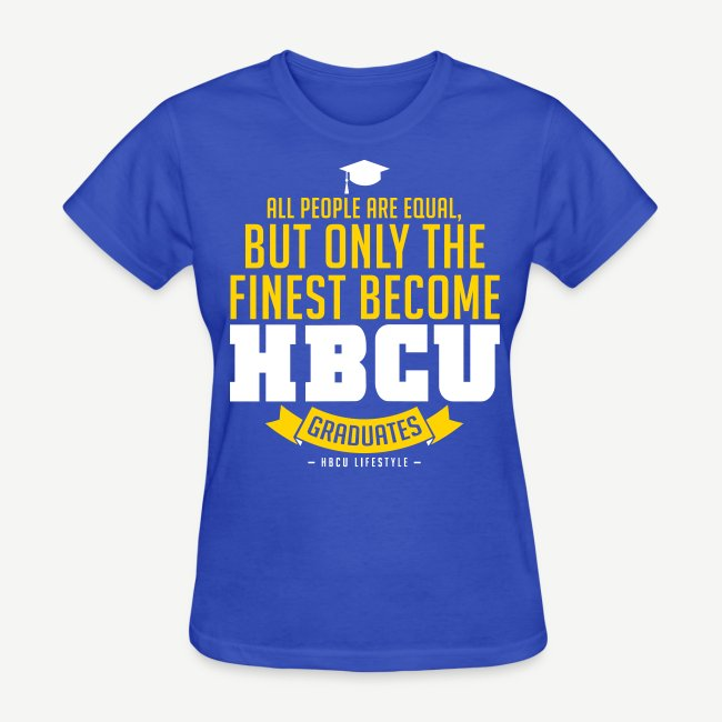 HBCU Graduates - Women's Gold, White and Blue T-shirt