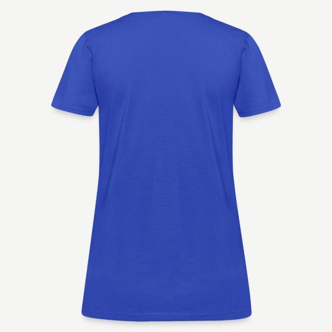 HBCU Graduates - Women's Gold, White and Blue T-shirt