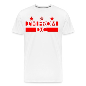 I'm From D.C. Tee Wh/R - Men's Premium T-Shirt