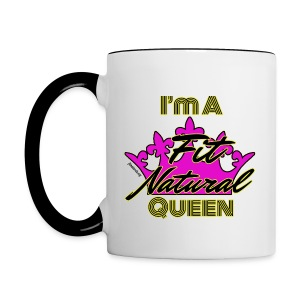 I'm a Fit Natural Queen (Yellow) 2 tone Mug - Contrast Coffee Mug