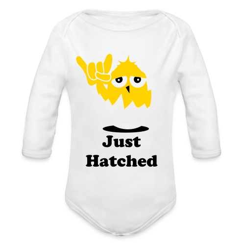 Just Hatched - Organic Long Sleeve Baby Bodysuit
