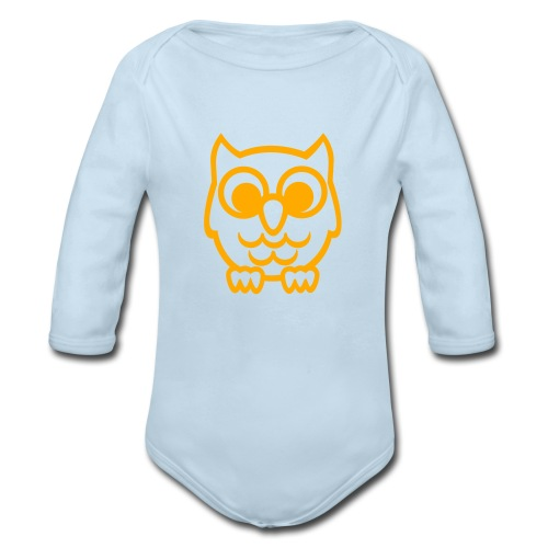 What a Hoot - Organic Long Sleeve Baby Bodysuit