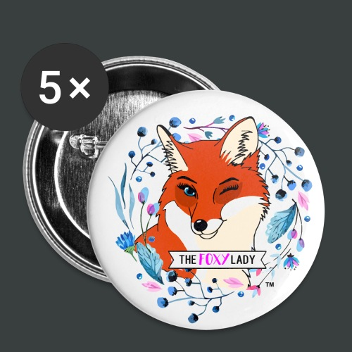 Logo Contrast Mug - Buttons small 1'' (5-pack)