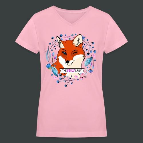 Pink Womens V-Neck - Women's V-Neck T-Shirt