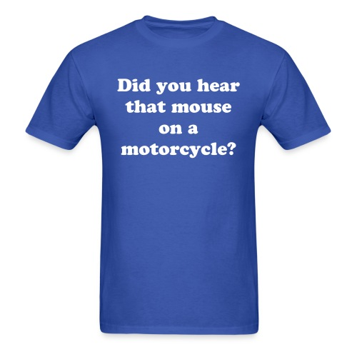 Mouse On A Motorcycle - Men's T-Shirt