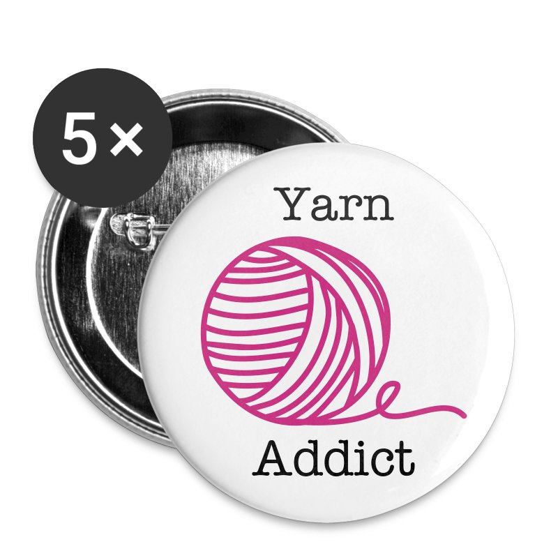 Yarn Addict Button - Small Buttons