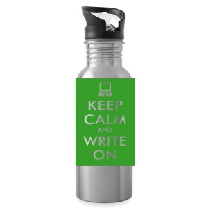 Keep Calm and Write On Water Bottle - Water Bottle