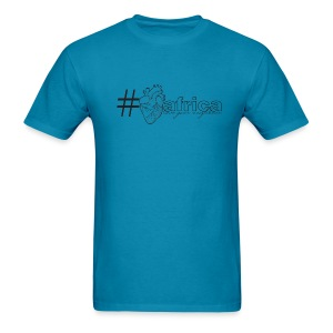 Hashtag Heart Africa (Mens) - Men's T-Shirt