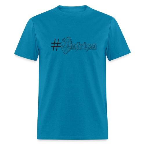Hashtag Heart Africa (Mens) - Men's T-Shirt