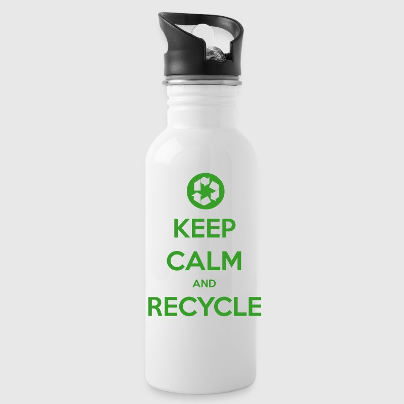 Keep Calm & Recycle Water Bottle - Water Bottle