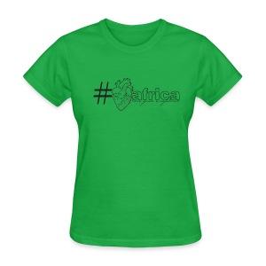 Hashtag Heart Africa (Womens) - Women's T-Shirt