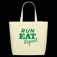 Bags & backpacks ~ Eco-Friendly Cotton Tote ~ Run Eat Repeat tote bag