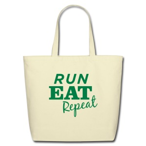 Run Eat Repeat tote bag - Eco-Friendly Cotton Tote