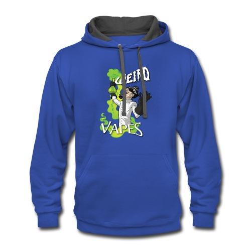 WeirdVapes Premium Hoodie - Contrast Hoodie