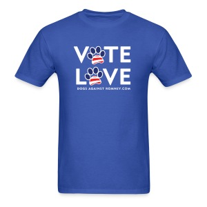 Official Dogs Against Romney VOTE LOVE T-Shirt - Men's T-Shirt