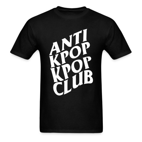 Anti Kpop Kpop Club (Front print only) - Men's T-Shirt