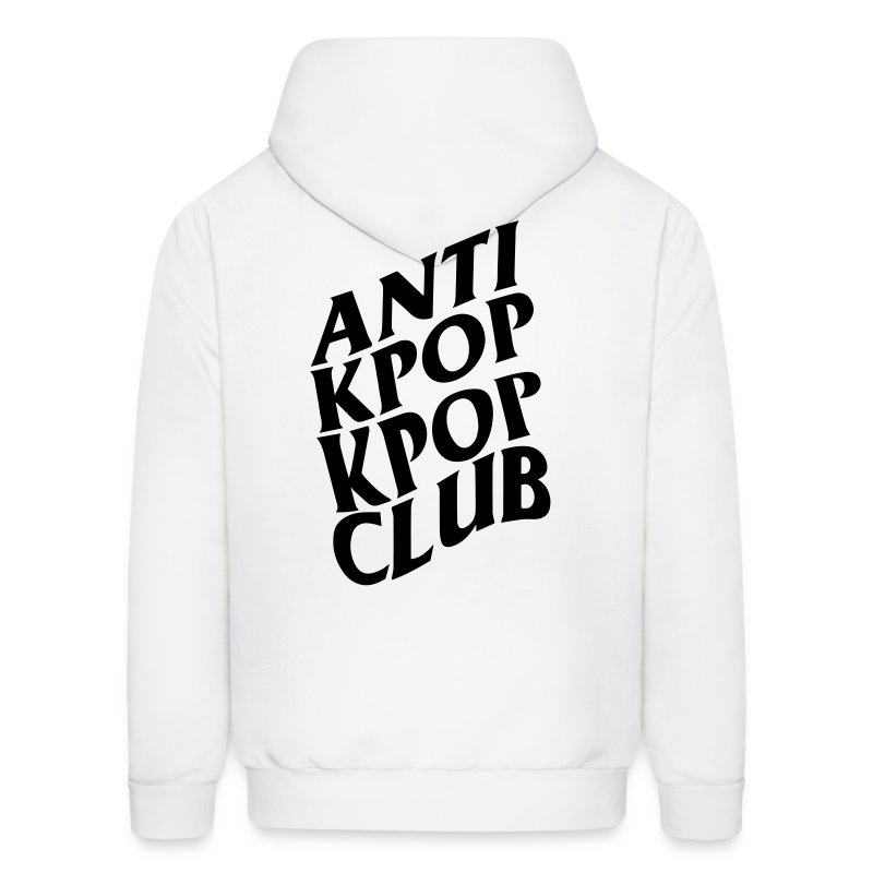Anti Kpop Kpop Club (Front & Back Print) - Men's Hoodie