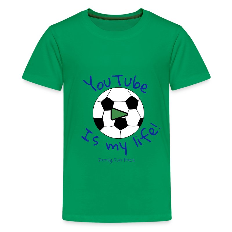 Family fun pack boys shirt soccer t shirt spreadshirt for Boys soccer t shirts