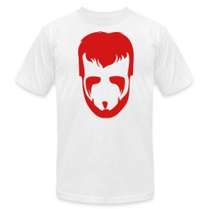 The Phenom Tee - Red on White - Men's T-Shirt by American Apparel