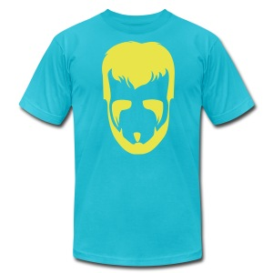 The Phenom Tee - Yellow on Turquoise - Men's T-Shirt by American Apparel