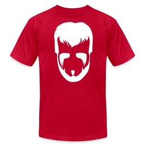 The Phenom Tee - White on Red - Men's T-Shirt by American Apparel