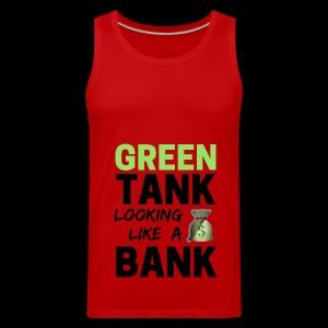 Bubble for Men: GREEN TANK - Premium Top w/ Black Text  - Men's Premium Tank