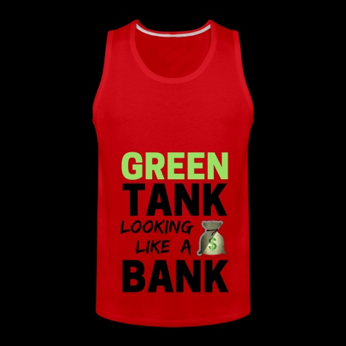 Bubble for Men: GREEN TANK - Premium Top w/ Black Text  - Men's Premium Tank