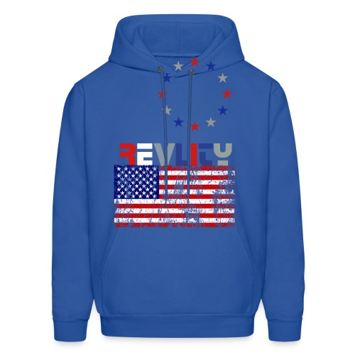American Red/White/Blue hooded-sweatshirt REVLITY - Men's Hoodie