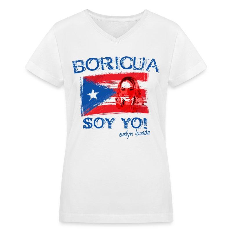 BORICUA SOY YO!  - Women's V-Neck T-Shirt