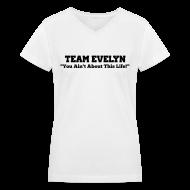 Women's T-Shirts ~ Women's V-Neck T-Shirt ~ TEAM EVELYN
