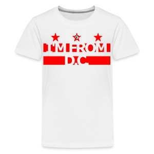 Kids I'm From D.C. Tee Wh/R - Kids' Premium T-Shirt