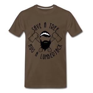 Hug A Lumberjack  - Men's Premium T-Shirt