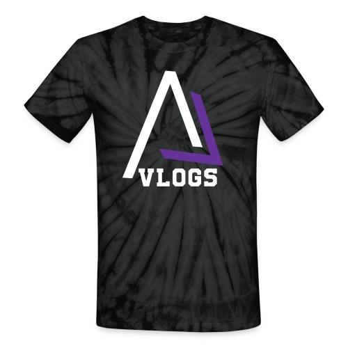 AL Vlogs Logo White Tie-Dye T-Shirt - Unisex Tie Dye T-Shirt