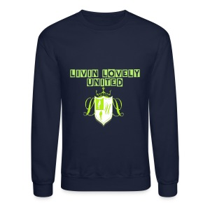 Livin Lovely United Men's Crewneck Sweatshirt - Crewneck Sweatshirt