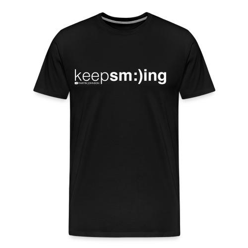 Keep Smiling Men's T-shirt - Men's Premium T-Shirt